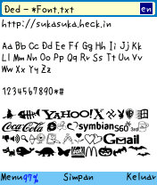 download font hp nokia 6600